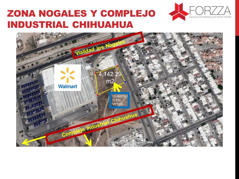 Terreno en Venta en Zona Vialidad Los Nogales y Complejo Industrial Chihuahua
