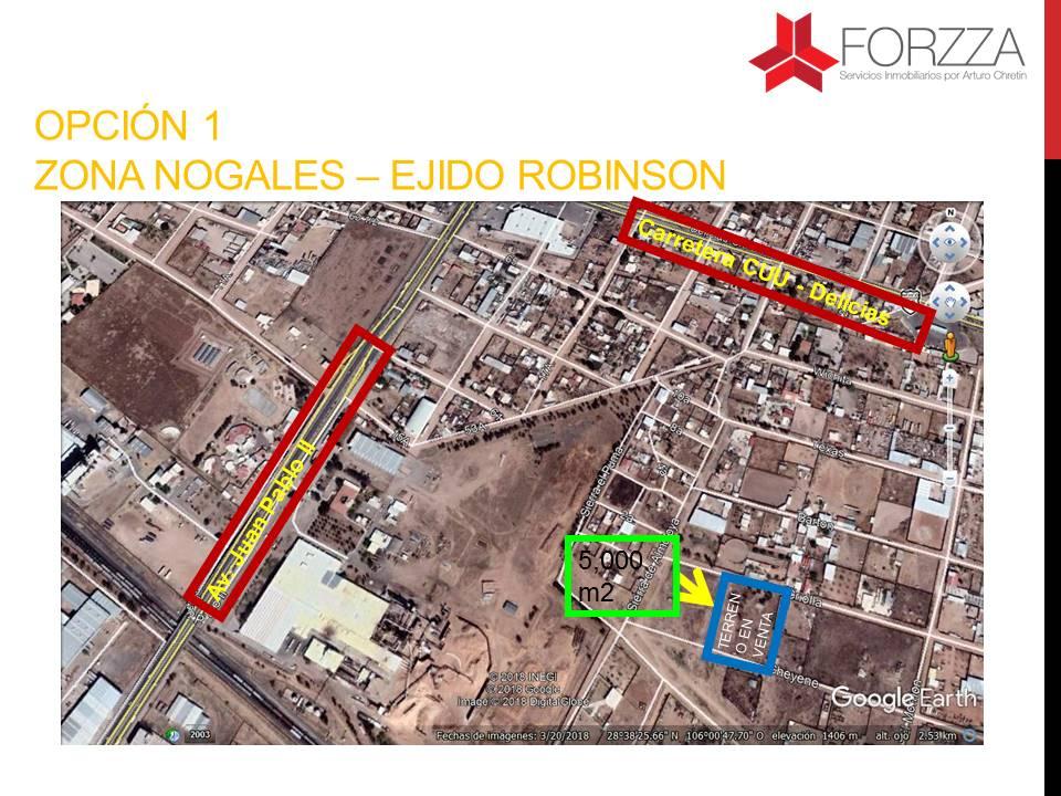 Terreno en Venta en Zona Nogales – Ejido Robinson