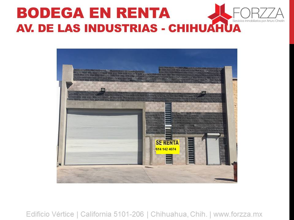 Bodega en Renta: Av. de las Industrias y Zaragoza